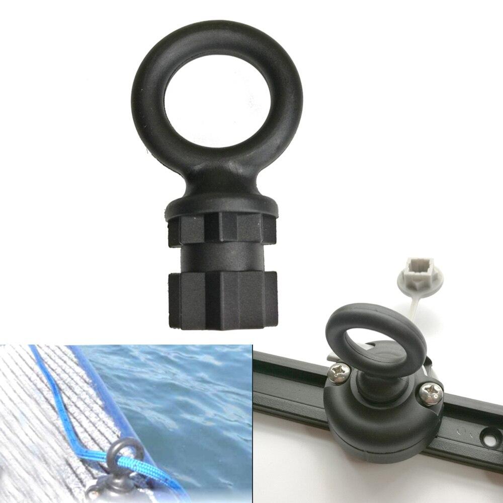 Canoe Kayak Round Mount Base Fishing Rod Holder Mount Base Tackle Kit Wall Sling Rope Ring Tethering Lashings Eye Set
