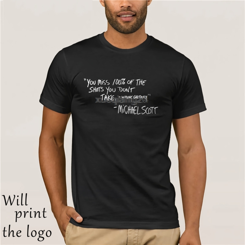 The Office T-Shirt - Michael Scott Quote - You Miss 100 Of The Shots - Office TV Show Shirt image
