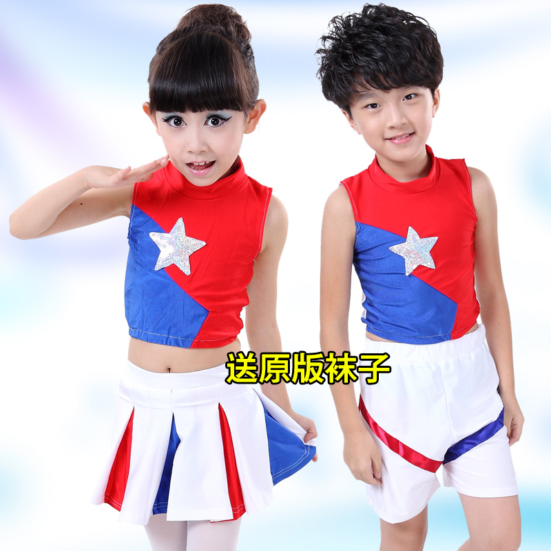 New childrenu0027s cheerleading costumes boys and girls aerobics children primary school students cheerleading dance costumes-in Clothing Sets from Mother ...  sc 1 st  AliExpress.com & New childrenu0027s cheerleading costumes boys and girls aerobics ...