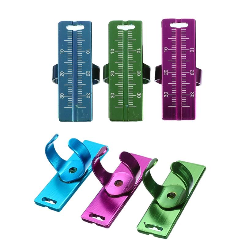 1/3PC Dental Rulers Aluminium Dentist Endo Finger Rulers Measure Scale Endodontic Dental Instruments Finger Ruler Measuring Tool