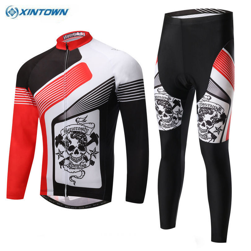 XINTOWN Outdoor Ropa Ciclismo Pro Team Cycling Jersey Clothing Bike Bicycle Wear Long Sleeve Top Bib Pants Breathable Sets teleyi men cycling jersey bike long sleeve outdoor bike jersey bicycle clothing wear breathable padded bib pants set s 4xl