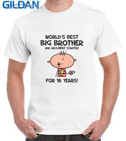 Funny Online Gildan Men S Crew Neck Worlds Best Big Brother 18Th Birthday Present Short Sleeve