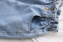 2018 Summer Casual Women Jeans Shorts Korean Preppy High Waist Plus Size Blue Denim Shorts Harajuku Edge Curl White Hot Shorts
