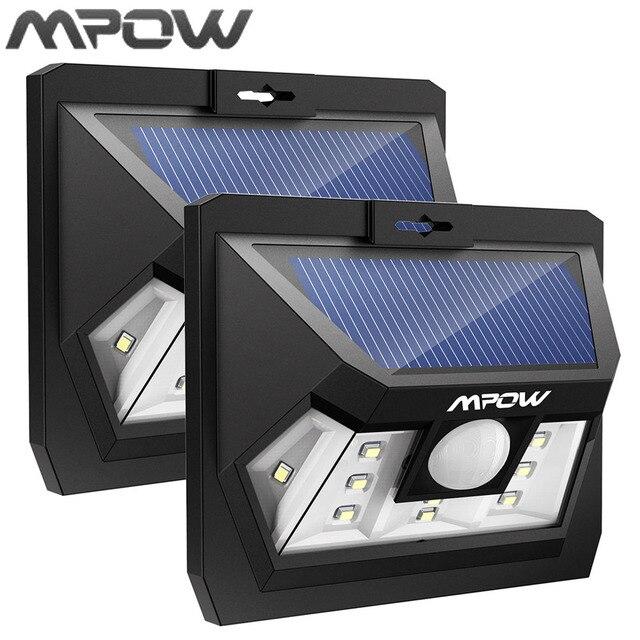Mpow Mini 10 LED Zonne energie Paneel Lampion Draadloze Waterdichte ...