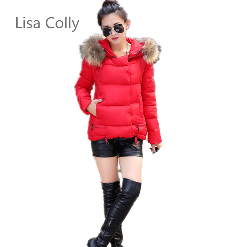 Lisa Colly Fashion Women Winter Coat Thickening Cotton Autumn Winter Jacket Womens hooded Outwear Parkas 6 Colours M-3XL Size lisa corti короткое платье