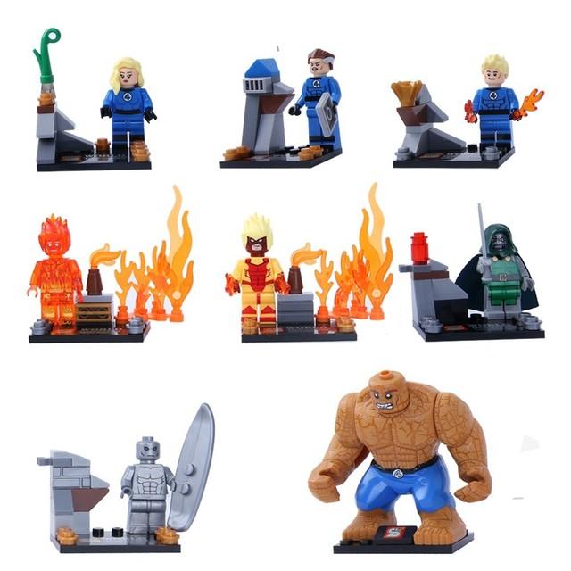 Marvel Super Heroes Figures The Avengers Deadpool Building Blocks Model Bricks Gift Toys for Children32 Pcs/lot