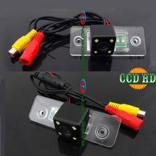 CCD HD 4 светодиода задние Парковка Камера для Skoda ROOMSTER Octavia Tour Fabia Фаэтон превосходное Гольф Jetta Бора Поло проводной и беспроводной