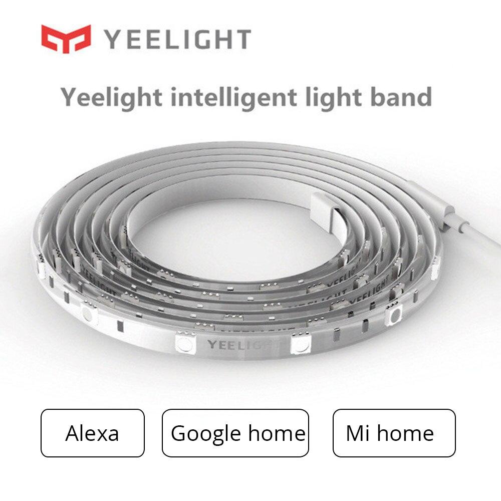 hot Yeelight RGB 2M Smart LED Light with Alexa Echo Google Home Strip MI Home app WiFi Control Flexible Intelligent light 2018