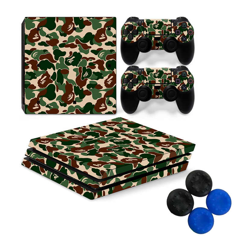New Pure Color Play Station 4 Pro Games Host Stickers Controller