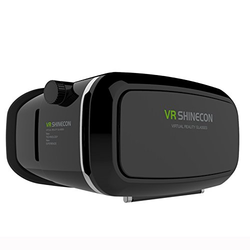 "Moveksi VR Shinecon 3D VR GLASS Head Mount Virtual Reality 3d Video Glasses for 4~6"" Smartphones 3d Movies Google Cardboard"