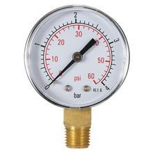 "50mm 0 ~ 60psi 0 ~ 4bar Zwembad Filter Water Druk Wijzerplaat Hydraulische Manometer Meter Manometer 1/4"" NPT Draad(China)"