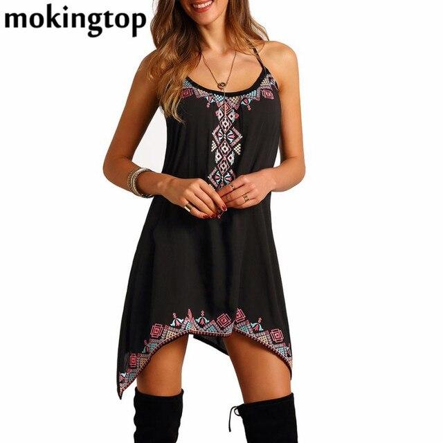 Mokingtop Summer Dress Women Robe Sexy Beach Dress Off Shoulder Sleeveless Women Dress Robe Femme Vestido De Festa