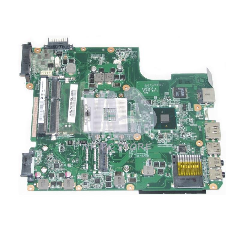 все цены на A000073390 DA0TE2MB6G0 MAIN BOARD For Toshiba Satellite L640 L645 Laptop Motherboard HM55 HD graphics DDR3 онлайн