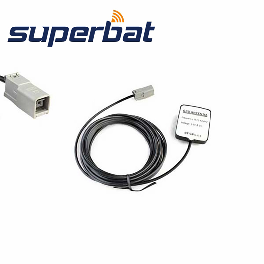 Superbat 1575.42MHz GPS Navigation Antenna 3M Cable For Mercede Command Alpine GT5-1S Car HRS GT5-1S Plug Aerial Siganal Booster