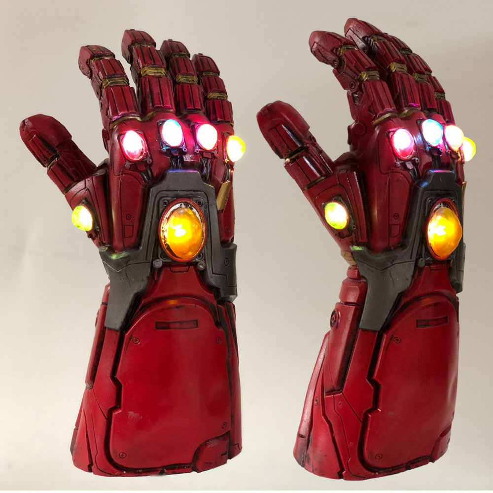 Led Light Iron Man Infinity Gauntlet Avengers Endgame Cosplay Arm Thanos Gauntlet Latex Gloves Arms Superhero Weapon Props New3