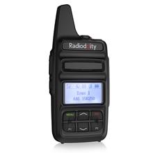 Radiodity GD 73 a/e mini dmr uhf/pmr ip54 usb programa & carga 2600 mah sms hotspot uso 2 w 0.5 w personalizado chave rádio em dois sentidos