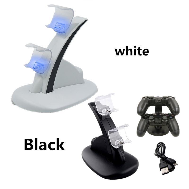 Controller Charger Dock LED Dual USB PS4 Charging Stand Station for Sony Playstation 4 PS4 / PS4 Pro /PS4 Slim black whiteController Charger Dock LED Dual USB PS4 Charging Stand Station for Sony Playstation 4 PS4 / PS4 Pro /PS4 Slim black white