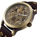 Новый дизайн модный бренд часы мужчины бизнес часы деловой случай скелет стали автоматические механические наручные часы класса люкс подарок