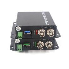 3G HD SDI vidéo/Audio/RS485 données sur Fiber optique médias convertisseurs émetteur récepteur fibre unique 10Km SFP LC HD vidéo