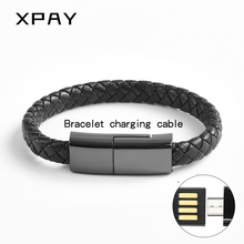 Hot Real Leather Micro USB Bracelet Charger Data Charging Cable Sync Cord For iPhone 6 6s 7Plus Android Type-C XPAY Phone