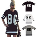 New T-shirt  Summer Women Celebrity Number 86 Printed Tops Long Loose Hip Hop American Style Tee Ladies Tshirt Blusas