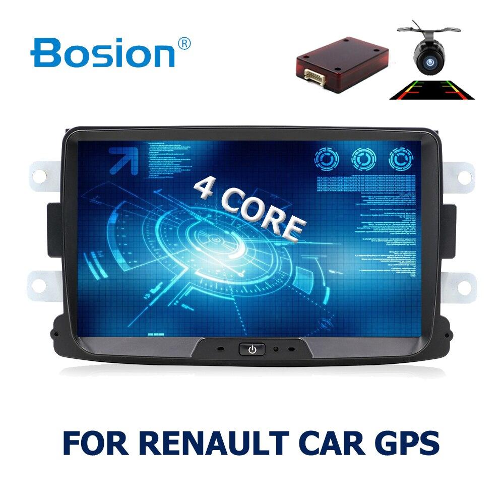 1 DIN Android 7.1.1 8 Pouces Voiture Lecteur DVD Pour Dacia/Sandero/Chiffon/Renault 2 Logan 2 RAM 3G/4G/WIFI/BT/USB GPS Navigation Radio