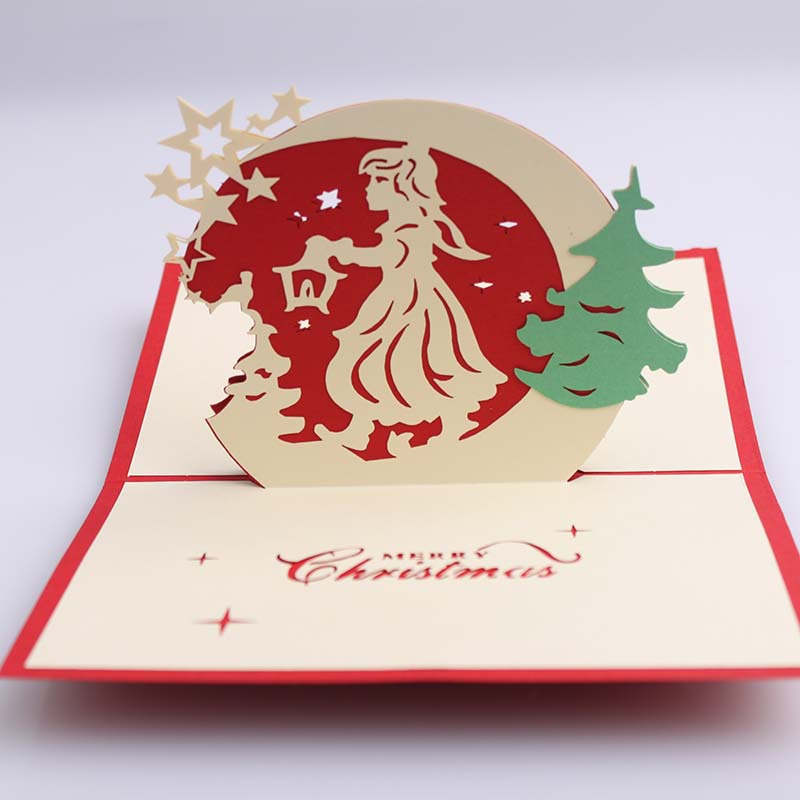 3d Origami Christmas Tree Today I Want To Share 3d: Creative Kirigami & Origami 3D Pop UP Greeting & Gift