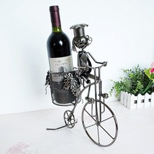 Ceative Bicycle Wine Rack Living Room Cabinet Decoration Metal Iron Bottle