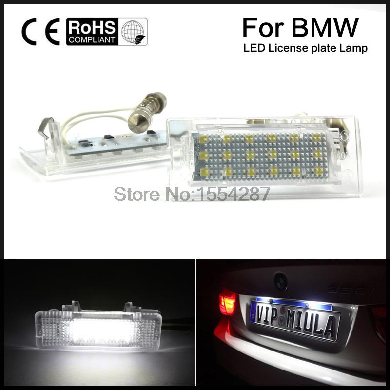 2pcs Direct Fit Canbus NO-Error LED Number License Plate Light Lamp for BMW X5 E53 99-06 X3 E83 03-10 BJ direct fit for kia sportage 11 15 led number license plate light lamps 18 smd high quality canbus no error car lights lamp