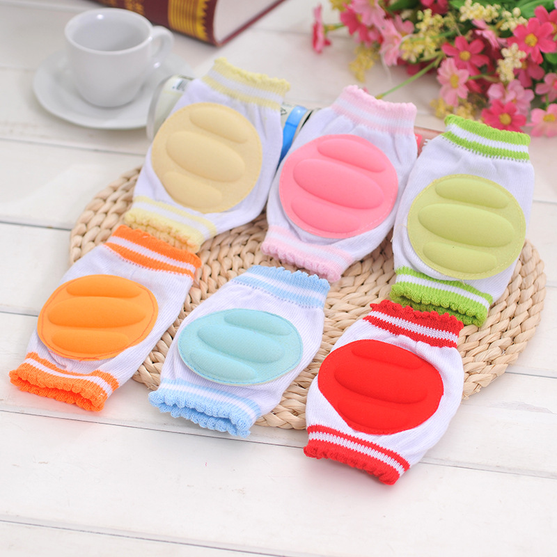 1 Pair Baby Crawling Knee Pads Cotton Baby Safety Elbow Crawling Cushion Protective Infant Leg Warmers Toddlers Knee Protector