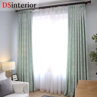 DSinterior Natural Design Jacquard Curtain For Bedroom Window Custom Made
