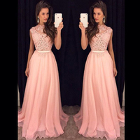 Pink Evening Dresses Party A Line 2019 Prom Formal Evening Gowns Dress Long Evening Dress Party Gown 2019
