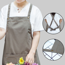 2019 new Canvas Apron kitchen accessories Cooking Painting Apron BBQ Work Clothes Practical Professional Coffee Nail Salon Apron