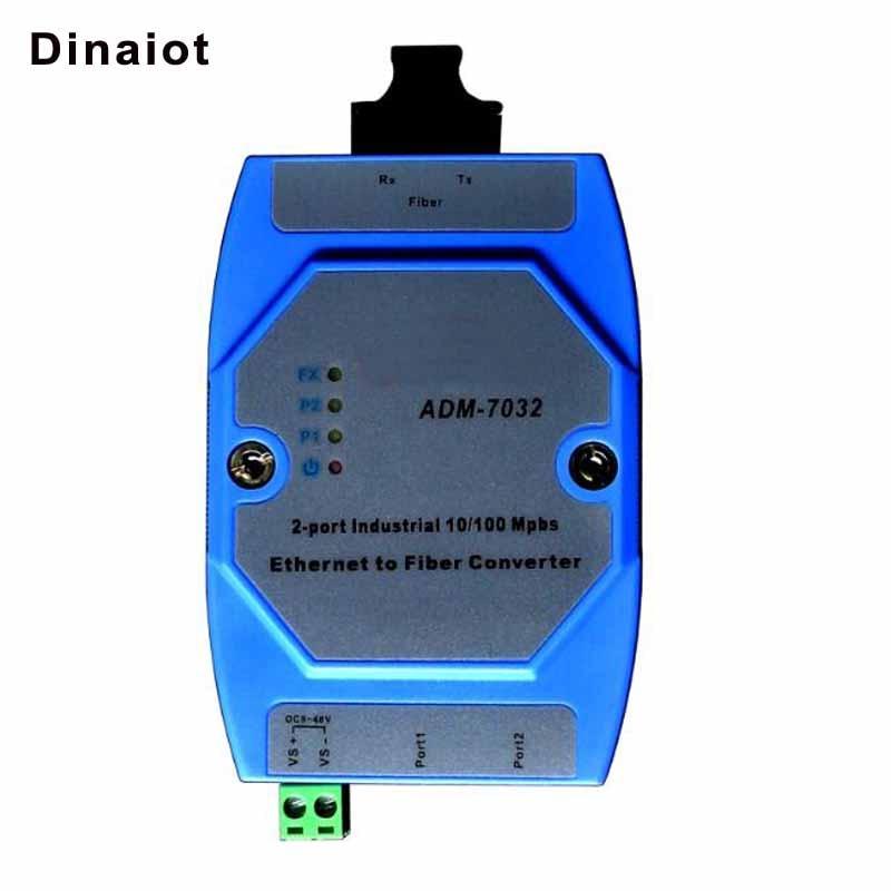 RJ45 Ethernet To Fiber Converter 2 Ports Industrial 10/100Mbps Fiber Optic Transceiver Multimode Single Mode 20Km