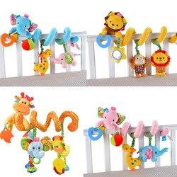 Espiral de Desenvolvimento precoce Brinquedo Macio Infantil Cama Berço Carrinho De Criança Assento de Carro Pendurado Brinquedos Do Bebê Para Recém-nascidos Bebe Sino Rattle Toy para o Presente