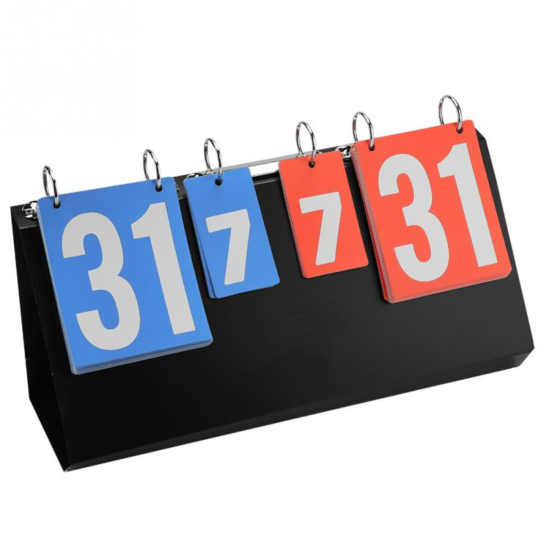 Portable 4-Digit Sports Competition For Table Tennis Basketball Badminton Football Volleyball Score Boards