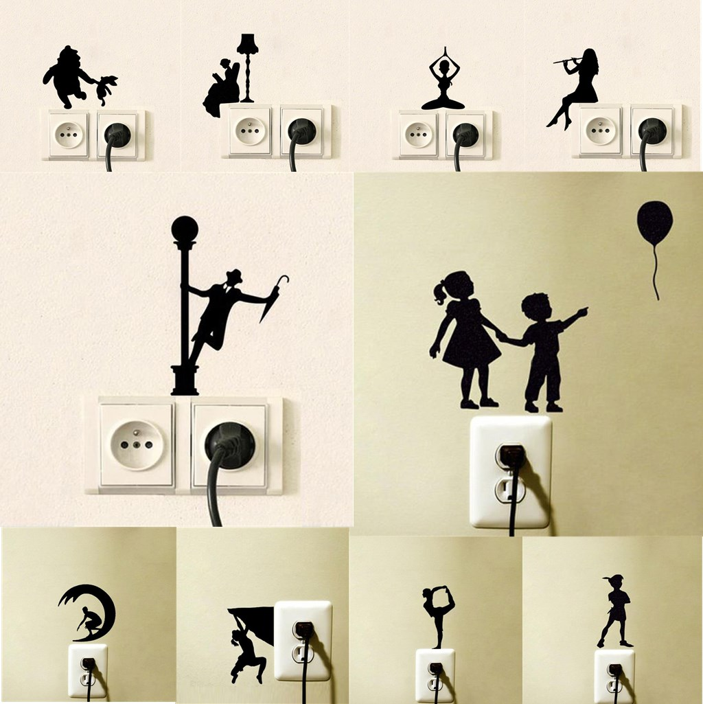 Wall Switch Sticker Home Decoration Sticker Wall Sticker Decal Decor Decal Socket Paste