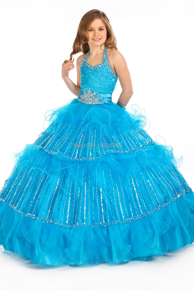 Online Shop New Halter Lake Blue/Red Perfect Angels1415 Party ...
