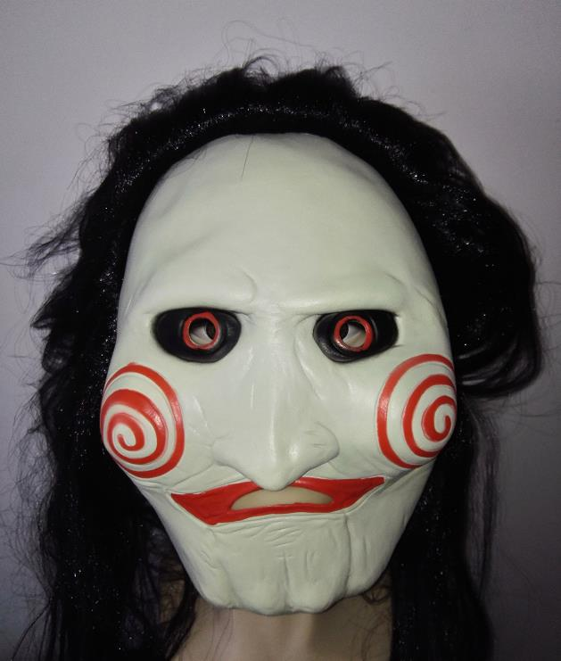 saw movie jigsaw puppet mask creep halloween costume theater prop novelty latex rubber in boys costume accessories from novelty special use on