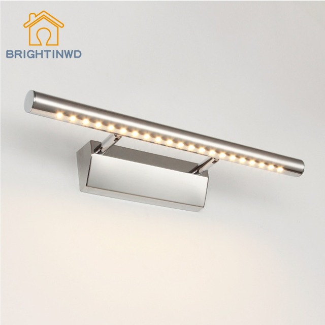 Modern Waterproof Anti-fog Bathroom 3W/5W/7W/9W/15W Led Mirror Wall Lights Lamps&Stainless Steel led lamp from Factory for home