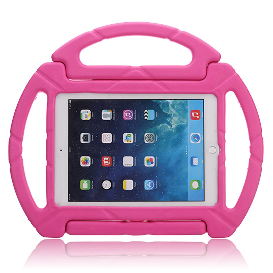 все цены на Case for ipad air /Air 2 / ipad 2017 , Shock Proof Non-toxic EVA cover with stand Silicone para shell coque for ipad air 2 case онлайн