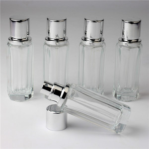 1PCS 30 ML Rechargeable Portable Travel Bottle Empty Glass Perfume Bottle Atomizer Bottle For Bottle Pump Diamond Perfume Cover