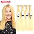 Platinum blonde virgin hair 3 Bundles Honey Blonde Malaysian Straight Hair Extension No Mix Soft Malaysian Virgin Hair Bundles