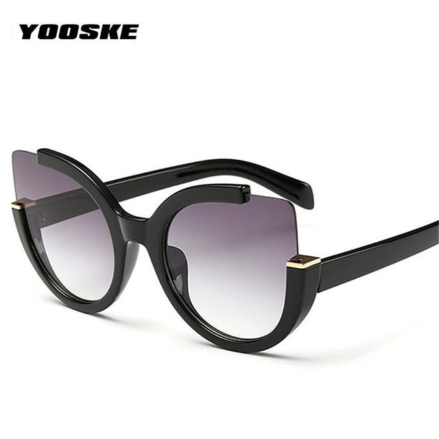 YOOSKE Cat Eye Sunglasses Women HD Lens Glasses Frame Feminino Sun Glasses UV400 Sun Glasses