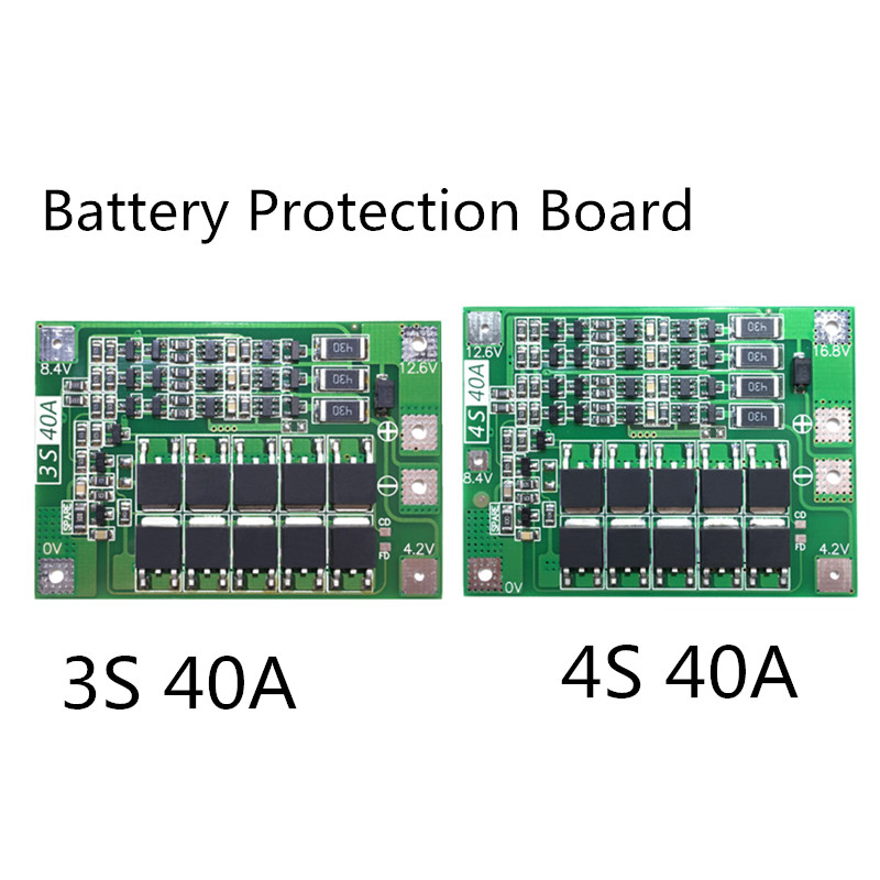 3S 40A BMS Board /4S 40A 11.1V 12.6V/14.8V 16.8V  18650 Lithium Battery Protection Board With Balanced Version For Drill