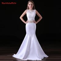New Arrival Pure White Folk Custom Long Evening Dress Lace Tassel Suit Mermaid Real Photo Customized