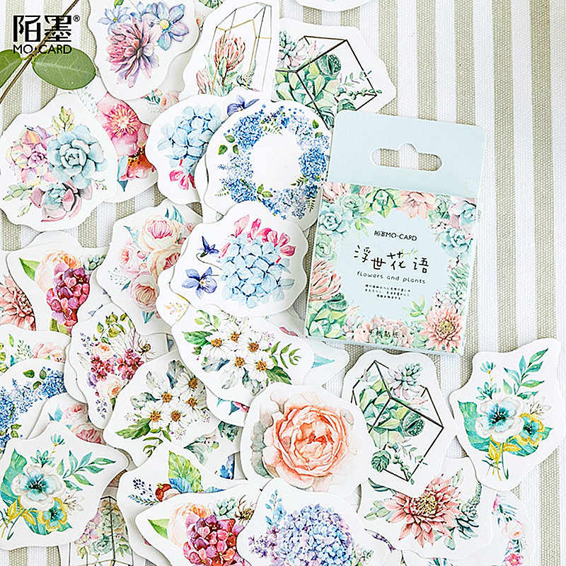 2019 NEW Flower Mean Stationery Stickers Diary Handmade Adhesive Paper Japan Sticker Scrapbooking Stationery