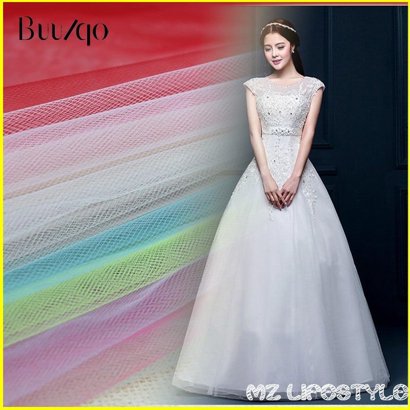 hett försäljning 10meters / lot 150cm bredd i mitten Hard Tulle mesh tyg vid lot tulle bröllopsklänning kjol garn tygduk efter meter