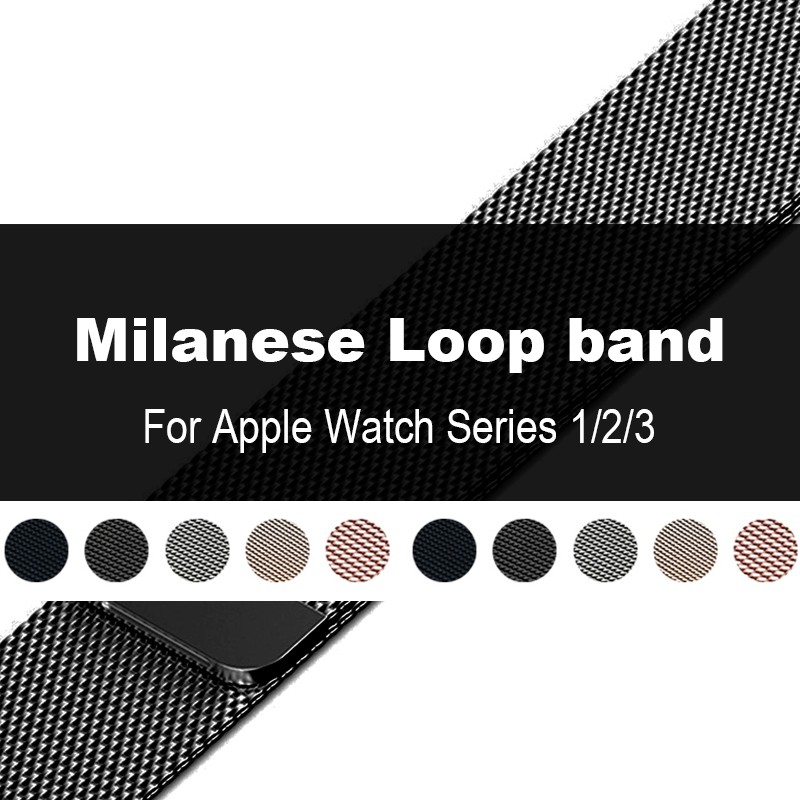 Milanese Loop Band for Apple watch Series 3 / 2 Link Bracelet Strap Magnetic adjustable buckle with adapter for iwatch 42mm 38mm eastar milanese loop stainless steel watchband for apple watch series 3 2 1 double buckle 42 mm 38 mm strap for iwatch band