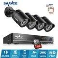 SANNCE 8-КАНАЛЬНЫЙ 1080 P HDMI ВИДЕОНАБЛЮДЕНИЯ Система DVR Kit HD 4 шт. 720 P CCTV камеры безопасности ИК открытый survelliance видеокамера комплект 1 ТБ HDD